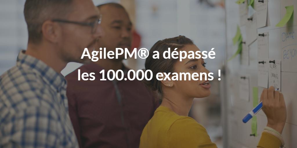 AgilePM a dépassé les 100000 examens article