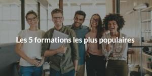 Les 5 formations les plus populaires en France
